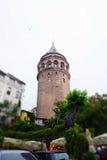 galata伊斯坦布尔塔 库存照片