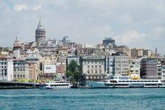 galata伊斯坦布尔塔 免版税库存照片