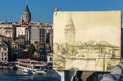 Galata塔在伊斯坦布尔 免版税图库摄影
