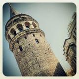 Galata塔在伊斯坦布尔 免版税库存图片