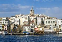 Galata塔在伊斯坦布尔 图库摄影