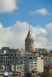 Galata塔视图在伊斯坦布尔 库存图片