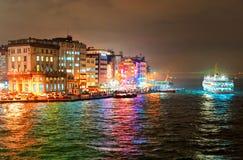 Galata ćwiartka na Bosporus w Istanbuł, Turcja zdjęcie royalty free