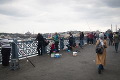 galata Κωνσταντινούπολη Τουρ&k Στοκ Εικόνες