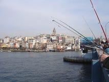 galata моста рыболовов Стоковое Изображение RF