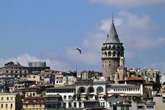 Galata Bezirk in Istanbul Stockfotografie