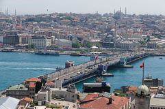 The Galata Bridge royalty free stock photos