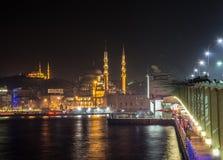 Galata Bridge and fishermen,Istanbul Royalty Free Stock Image
