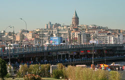 Galata bridge. Istanbul Royalty Free Stock Images