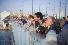 On Galata Bridge, Istanbul Stock Photography