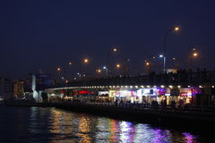 Galata bridge, Istanbul, nightview royalty free stock photos