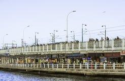 Galata bridge. In Istanbul, Turkey Stock Images