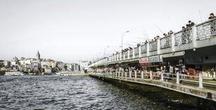Galata bridge. In Istanbul, Turkey Stock Photos