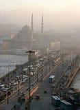 Galata Bridge in Istanbul, Turkey Royalty Free Stock Image