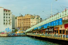 Galata Bridge Istanbul Royalty Free Stock Photo