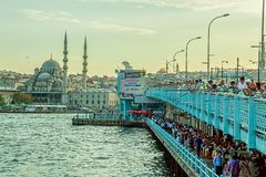 Galata Bridge Istanbul Stock Photo