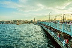 Galata Bridge Istanbul Royalty Free Stock Photography
