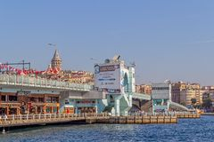 Galata Bridge Istanbul Stock Photography