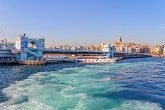 Galata Bridge in Istanbul Royalty Free Stock Images