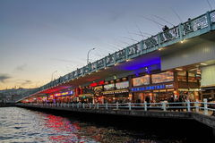 Galata bridge at night Stock Photo
