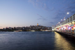 Galata bridge and tower Stock Photos
