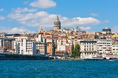 Galata district in Istanbul Royalty Free Stock Image