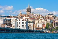 Galata district in Istanbul Royalty Free Stock Photo