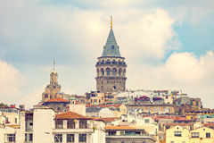 Galata district in Istanbul Stock Image