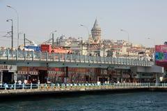Galata en Estambul Turquía foto de archivo