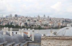 Galata en Karakoy-district in de stad van Istanboel Royalty-vrije Stock Foto's