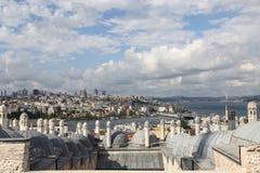 Galata en Karakoy-district in de stad van Istanboel Stock Afbeelding