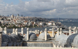 Galata and Karakoy district in Istanbul city Royalty Free Stock Images