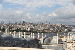 Galata and Karakoy district in Istanbul city Royalty Free Stock Photo