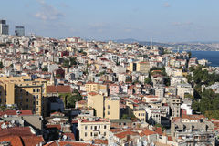 Galata and Karakoy district in Istanbul city Royalty Free Stock Photography