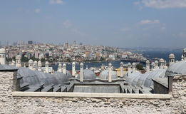 Galata and Karakoy district in Istanbul Royalty Free Stock Images