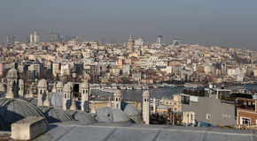 Galata and Karakoy district in Istanbul city Stock Images
