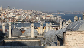 Galata and Karakoy district in Istanbul city Stock Image