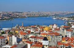 Galata Karakoy quarter of Istanbul Royalty Free Stock Image