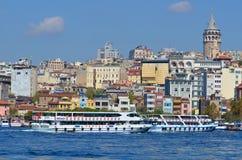 Galata Karakoy quarter of Istanbul Royalty Free Stock Photos
