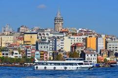 Galata Karakoy quarter of Istanbul Stock Photos