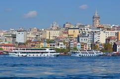 Galata Karakoy quarter of Istanbul Royalty Free Stock Photography