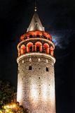 Galata Kontrollturm im Istanbul-Truthahn Stockbilder