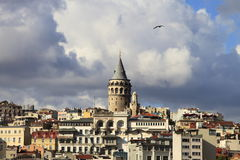 Galata Kontrollturm, Istanbul Lizenzfreie Stockfotografie