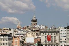 Galata Kontrollturm in Istanbul Stockfotografie