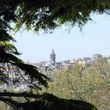 Galata Kontrollturm in Istanbul Stockfotos