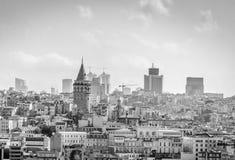 Galata Kontrollturm in Istanbul, die Türkei Stockfotos