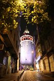 Galata Kontrollturm in Istanbul stockbilder