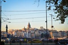 Galata most i Galata wierza fotografia stock