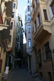 Galata Streets. The famous narrow treets in Galata, Istanbul, Turkey royalty free stock photo