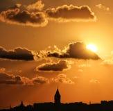 Galata. Sunset istanbul Uskudar Landscapes stock image